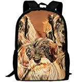 CY-STORE Cute Animal Golden Retriever Outdoor Shoulders Bag Fabric Backpack Multipurpose Daypacks For Adult