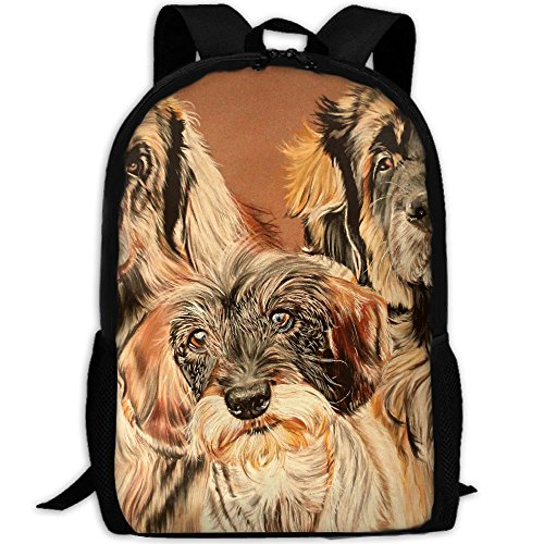 CY-STORE Cute Animal Golden Retriever Outdoor Shoulders Bag Fabric Backpack Multipurpose Daypacks For Adult by CY-STORE
