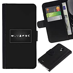 Stuss Case / Funda Carcasa PU de Cuero - Signos - Samsung Galaxy S4 Mini i9190
