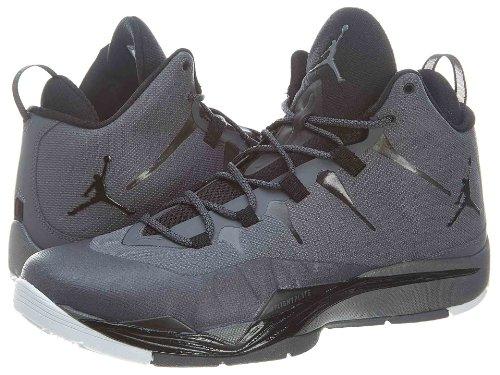 Nike Jordan Men's Jordan Super.Fly 2 Dark Grey/Black/White Basketball Shoe 11 Men US