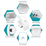 WiFi Range Extender dodocool N300 Wall Mounted Wireless Signal Booster Surpport AP/Repeater Mode with RJ-45 Port