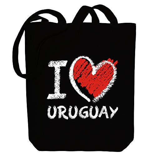 I Countries Tote Idakoos Uruguay Bag chalk Canvas love style np447ZdX