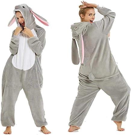 FZH Pijama Unisex Mujer Kigurumi Pijama de una Pieza con ...