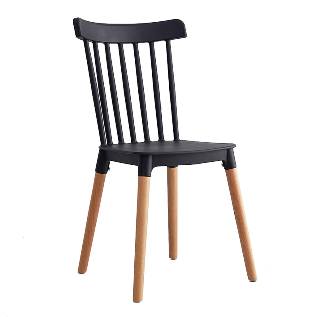Black Dining Chair, Plastic Chair Solid Wood Restaurant Chair Lounge Chair Household Armchair 43  48  84.5Cm,Green