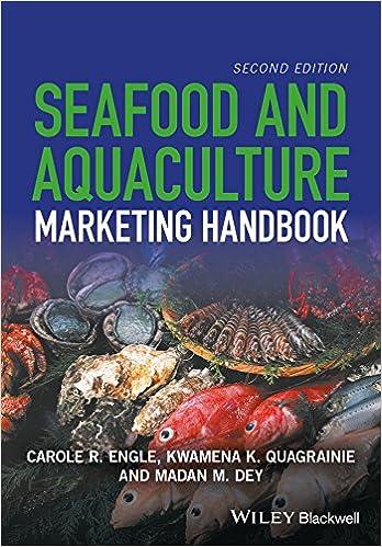 aquaculture marketing h andbook engle carole r quagrainie kwamena k