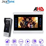 Jeatone 720P AHD HD 7 Color Screen Video Intercom Door Phone Unlock System Record Monitor + Doorbell Camera