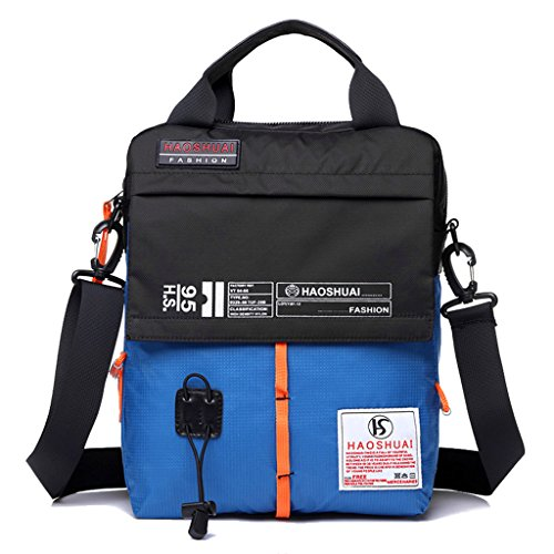 pocket Satchel Pack Sky Supa Moden Outdoor Bag Multi Sling Messenger Hiking Cross Body Shoulder Nylon Blue Organizer Men ax10Oqxzcw