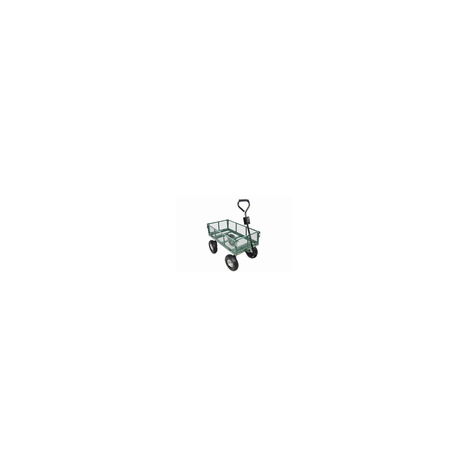 Green Thumb 70108 4 Wheel Mesh Garden Cart With Sidewalls