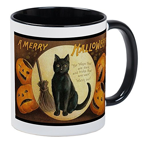 CafePress - Vintage Merry Halloween Mug - Unique Coffee Mug, Coffee Cup -