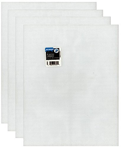 Sewing Canvas Plastic - 4-Pack of Darice Mesh Plastic Canvas - Clear - 10.5 x 13.5
