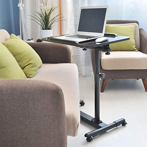 Mesa auxiliar de sofa, mesita de noche para computadora portatil, escritorio ajustable ajustable para computadora portatil, mesa de comedor, ideal para leer, desayunar, ayuda para ancianos (color: A)