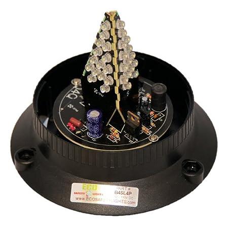B45L4PT CLEAR WHITE 12-80V DC 1//2 NPT PIPE MOUNT LED EMERGENCY WARNING SAFETY LIGHT BEACON STROBE EFFECT 12V 24V 36V 48V 72V