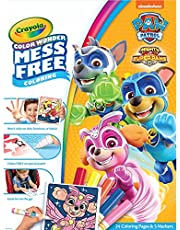 Crayola Paw Patrol Color Wonder Set, 24 Mess Free Coloring Pages & 5 Markers, Gift for Kids, Age 3, 4, 5, 6