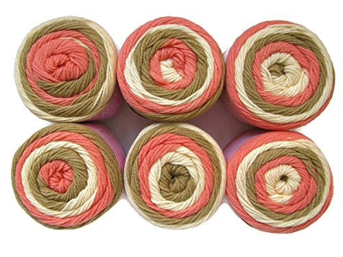 Sweet Roll Yarn, 6-Pack (Cheesecake (Sweet Cheesecake)