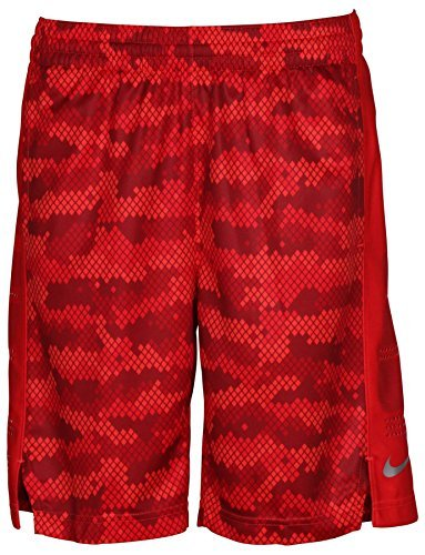 (Nike Elite Stripe Youth Short (X-Large, Champion Red/Red/Crimson))