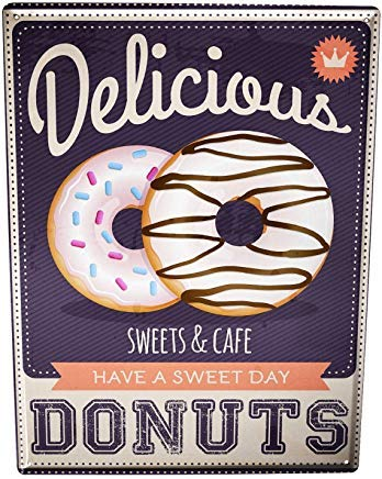 Vivityobert Cartel de Advertencia de Donuts Retro de Metal ...