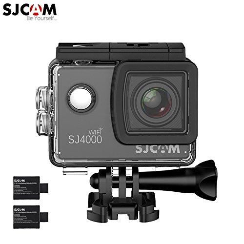SJCAM Original SJ4000 WiFi Version Full HD 1080P 12MP 2.0'' LCD Diving Bicycle Action Camera(Black) + Extra 1 Battery Action Cameras Legazone