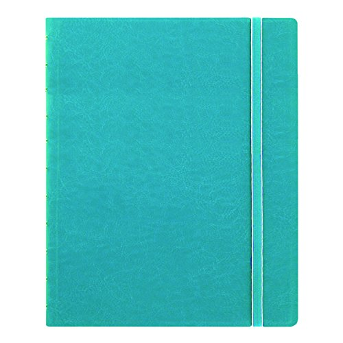 "Filofax Letter Size Notebook, 10.875"" x 8.5"", 112 Ruled Pages, Aqua (B115106U)"