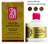 Style Edit BLONDE PERFECTION ROOT TOUCH-UP for BLONDES, Binding Powder for Precise DARK ROOT Coverage (STYLIST KIT) Color Binding Complex (MEDIUM BLONDE)