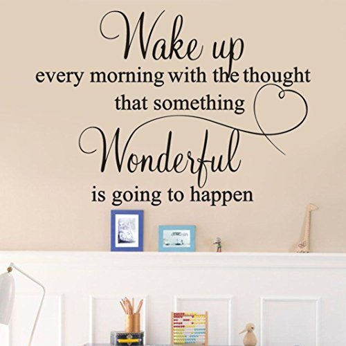 (Wall Stickers, Pumsun Word Wall Decals, Inspirational Wall Decal Stickers Quotes)