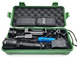 MiXXAR LED Tactical Hunting Flashlight, C8 2nd 1300 Lumens, 5 Modes,L2 Chip, Outdoor Waterproof LED Torch Lantern, with 1x 18650 3000mAh Rechargeable Battery 1x Gift Box (Cold White 6500-7000K)
