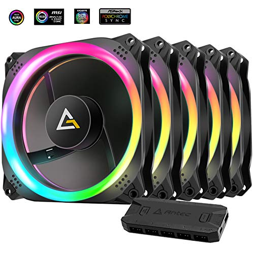 Antec Prizm 120 ARGB 5+C 120mm Case Fan w/Fan Controller (5 in 1 Pack)
