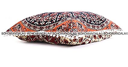 Indio Mandala suelo almohada cuadrada sofá grande funda de cojín Algodón puf Otomano asiento Otomano POUFS