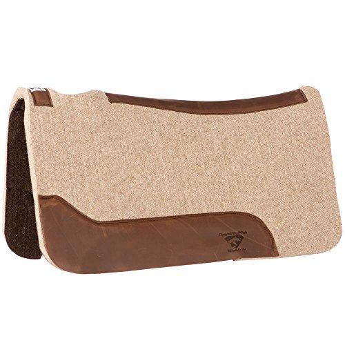 Pad Wool Brown - Diamond Wool Contour Cowboy Pad 32X32X1