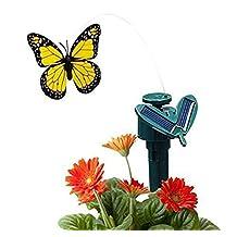 Rumfo Solar Yard Stake Fluttering Butterfly, Solar or Battery Powered for Patio Garden Yard Plants Flowers Wedding Decor Random Color