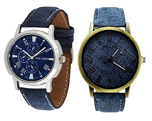 Asgard Trendy Analog Blue Dial Watches for Men – Set of 2