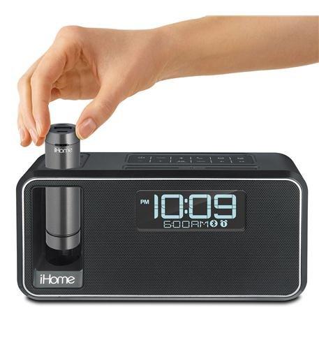iHome Kineta Bluetooth Alarm Clock Radio with Portable Remov
