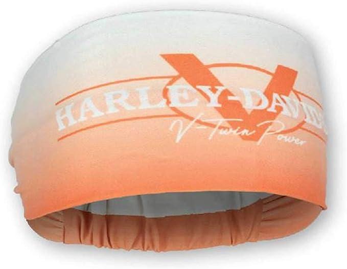 Harley-Davidson Women/'s V-Twin Power Headband Scrunchie Light Orange HE132579