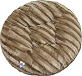 BESSIE AND BARNIE 36-Inch Bagel Bed for Pets, Medium, Godiva Brown