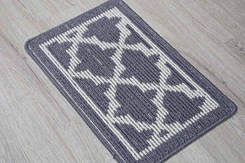 en'da home entrance doormat fiber with various pattern bathroom doormat 19 by 30.7-inch (gray)