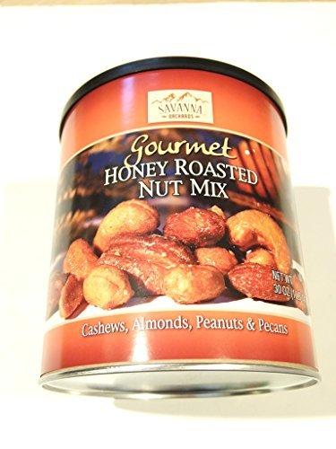 Honey Roasted Nut - Savanna Orchards Gourmet Honey Roasted Nut Mix, 30 Ounce