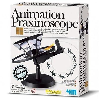 4M - Kit de construction Animation praxinoscope Coffret science expérience enfants 8+