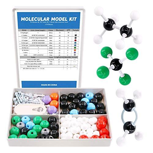 Organic Chemistry Molecular Model Kit 136 PCS with Remover Tool Teacher Student Inorganic /& Organic Academic Chemistry Education Teaching Tool Set 59 Atoms /& 76 Links /& 1 Short Link Remover Tool