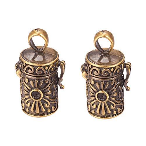 ARRICRAFT 10pcs Hollow Brass Cage Pendants Ball Pendants
