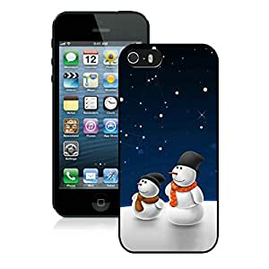 Individualization Iphone 5S Protective Cover Case Christmas Snowman iPhone 5 5S TPU Case 18 Black
