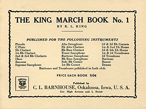 King March Book No. 1: 1st & 2nd Trombones