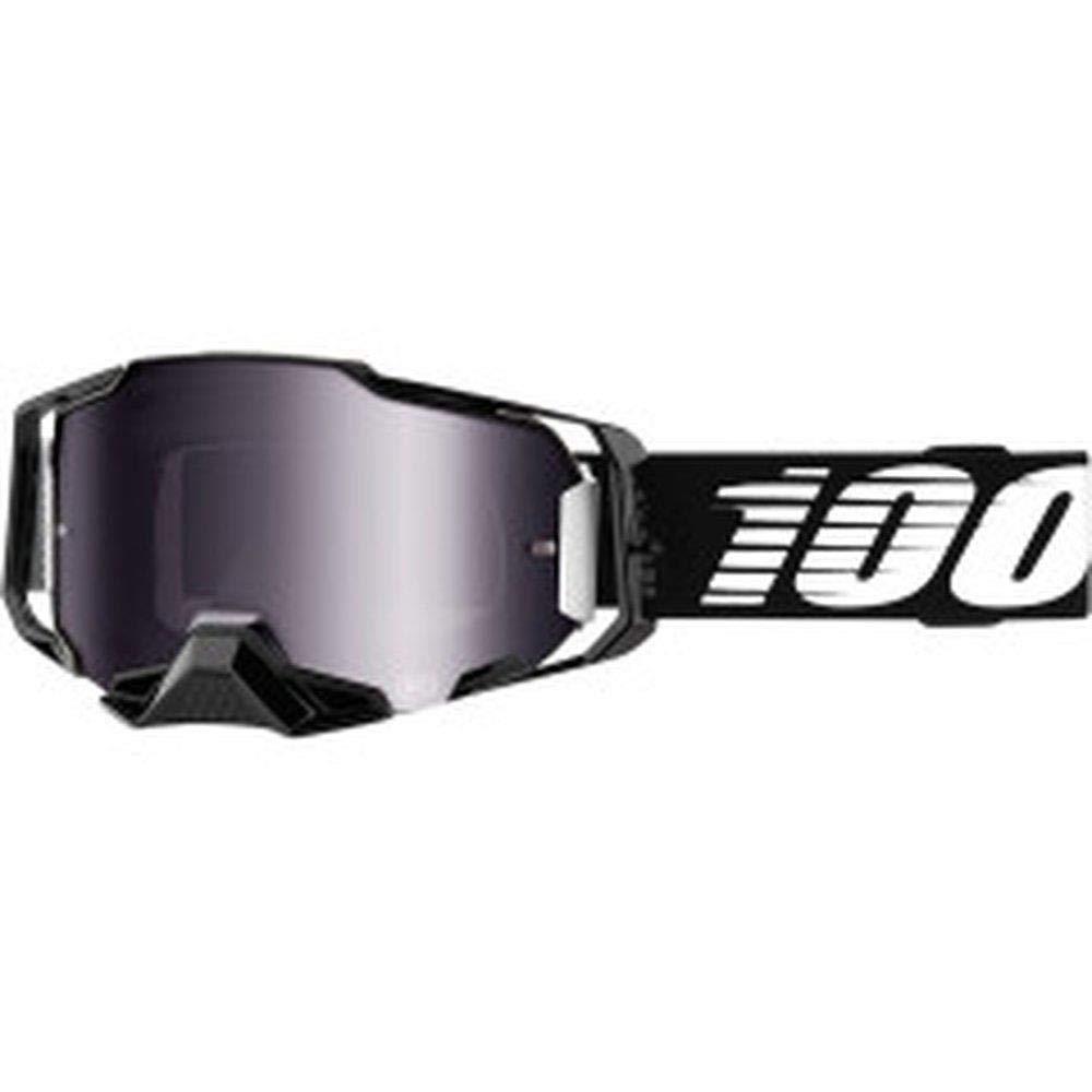 100/% Armega Motocross MTB Brille schwarz silber verspiegelte Scheibe