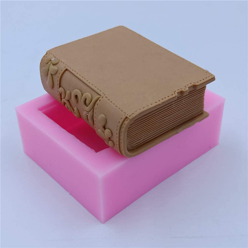 Monqui Book Silicone Soap Molds Candle Molds Art Craft Molds Resin Molds
