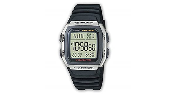 Amazon.com: Casio W-96H-1AVES Collection Alarm Chronograph Watch: Watches