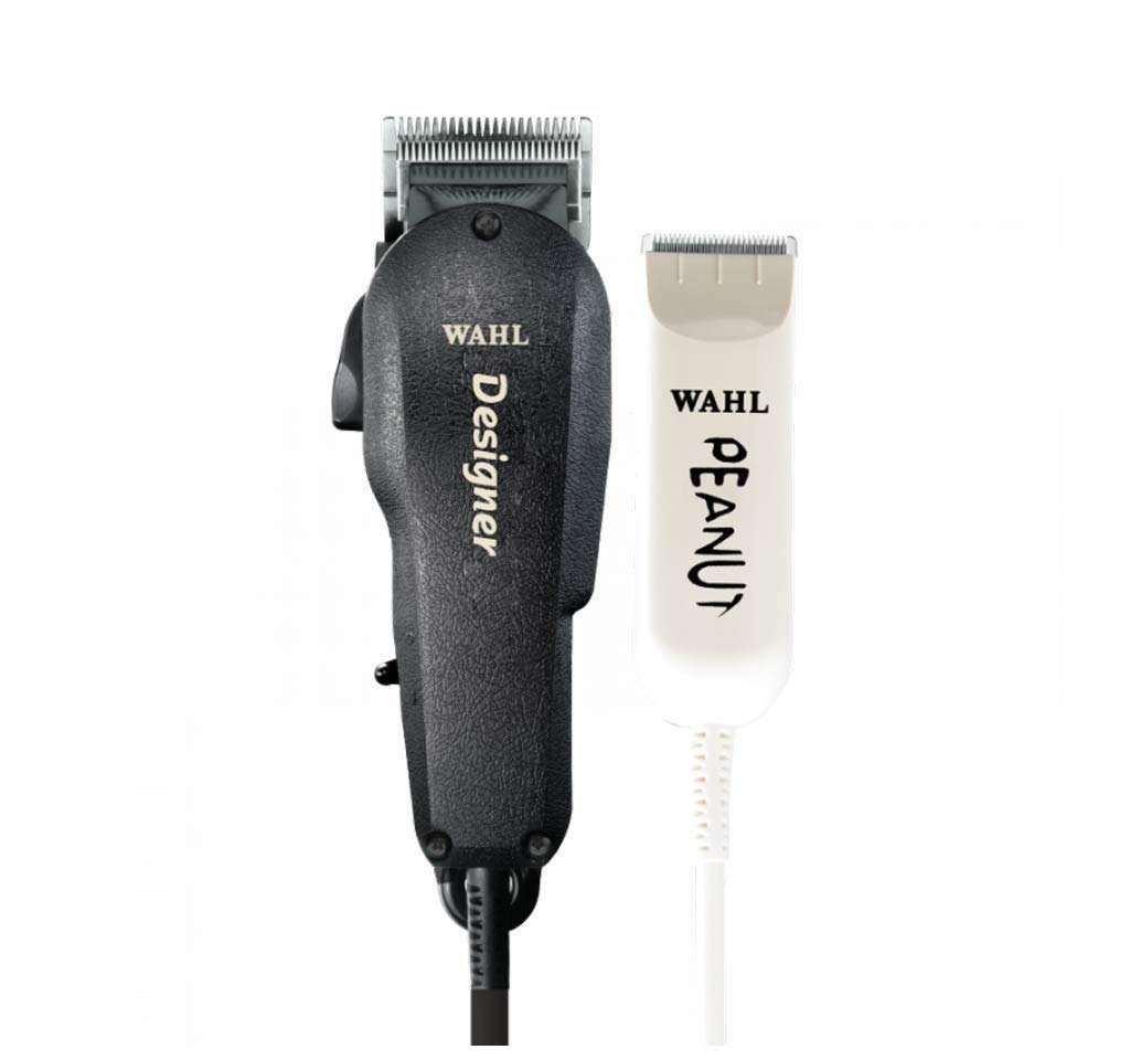Wahl Professional All Star Clipper/Trimmer Combo #8331 Features Designer Clip and Peanut Trimmer Includes Accessories by Wahl Professional