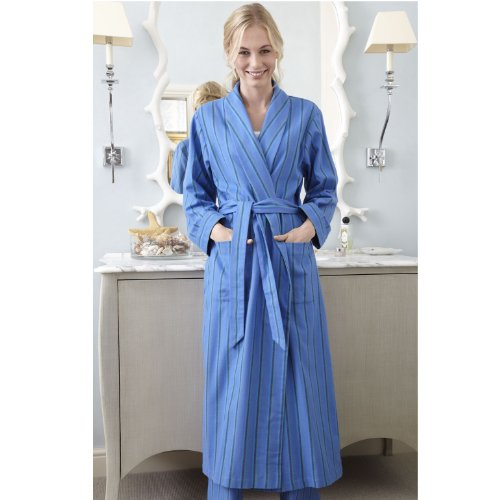 The Irish Linen Store Womens Juliette Soft Brushed Cotton Dressing ...
