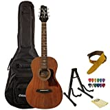 Sawtooth Mahogany Acoustic-Electric Parlor Guitar with Chromacast Accessories
