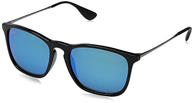 b0745de0d7 Ray-Ban Chris RB4187 Sunglasses Black Light Green Mirror Blue 54mm    Cleaning Kit