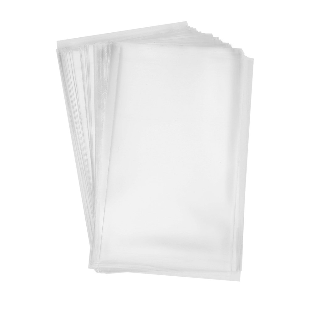 200 Clear Treat Bags 6x9 with 4'' Twist Ties 6 Mix Colors - Thick OPP Plastic Bags for Wedding Cookie Birthday Cake Pops Gift Candy Buffet Supplies by BakeBaking (Image #2)