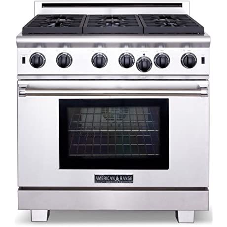 American Range ARR636N Cuisine Series 36 Sealed Burner All Gas Range Stainless Steel