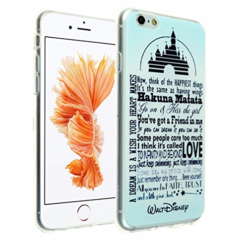 Cheap Cases iPhone 6s Case, DURARMOR® [Lifetime Warranty] [Scratchproof] Walt Disney Quotes Soft Flexible..
